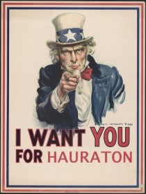 I want you for Hauraton!